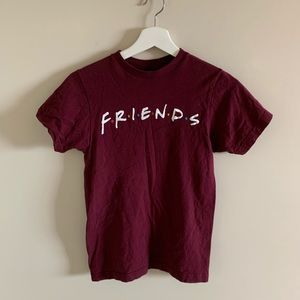 Friends The Television Series Burgundy Tee Shirt